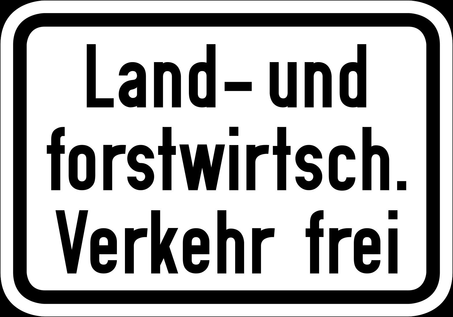 """""""Land- und Forstwirtschaftlicher Verkehr frei"""" Darf ich diese Wege mit dem Fahrrad befahren?"""