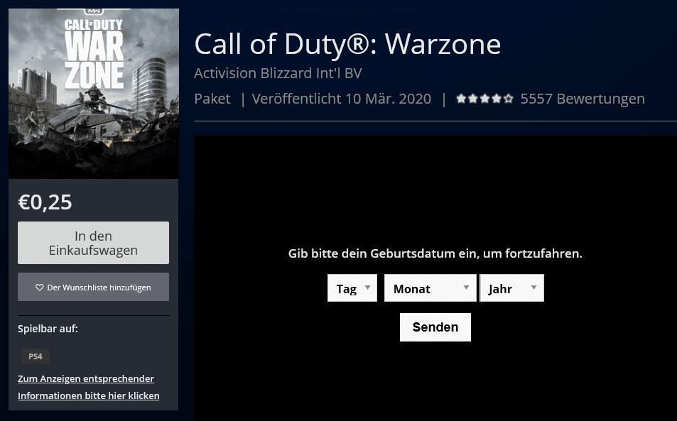Warum kostet Call Of Duty Warzone Geld auf PlayStation?