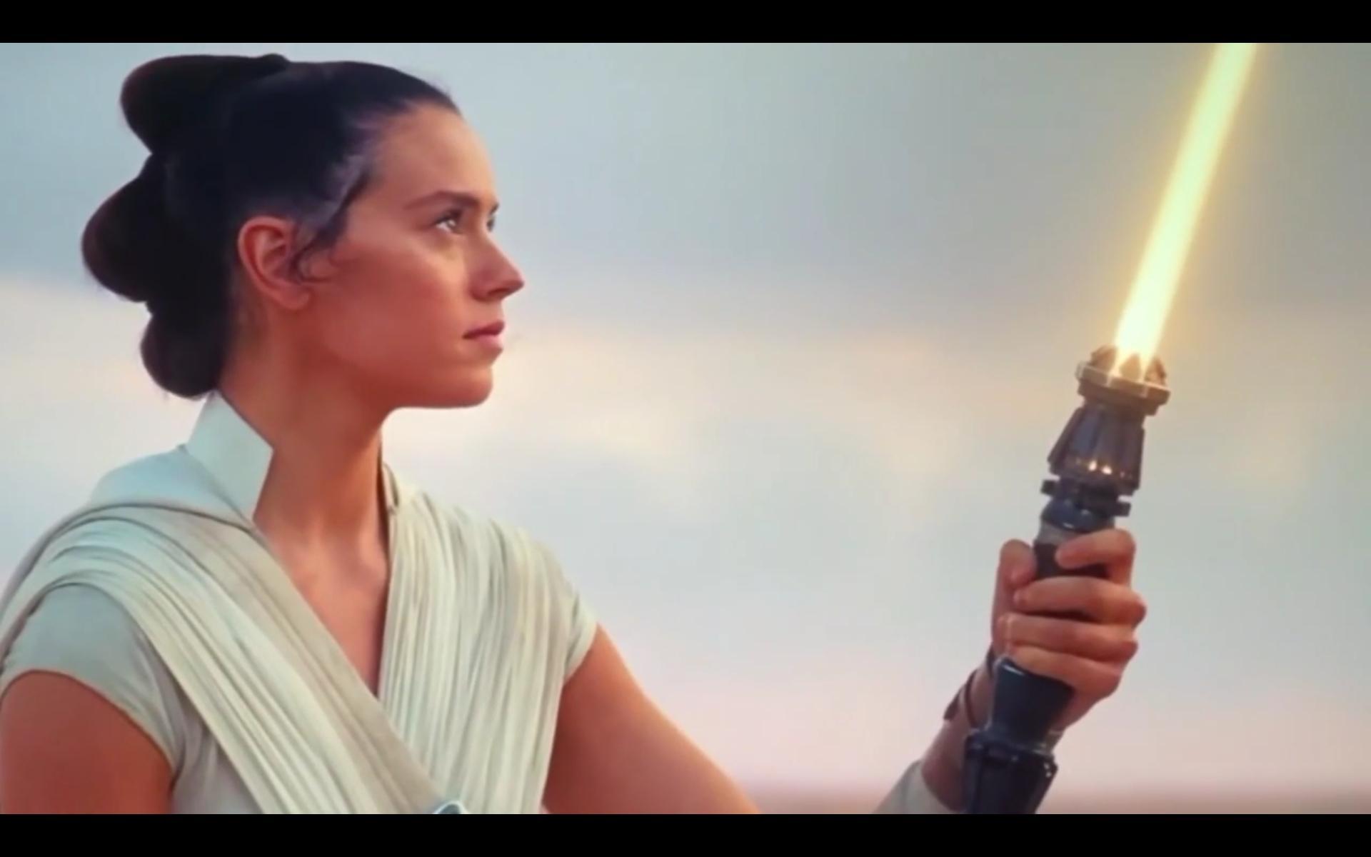 Warum hat Rey ein gelbes Lichtschwert