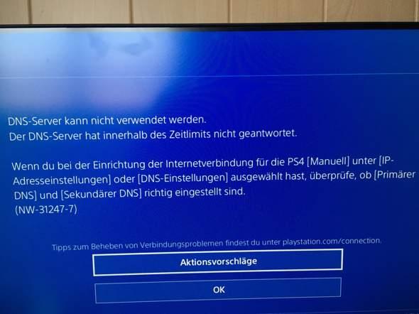 PS4 kann DNS Server nicht verwenden Fehlermeldung – Lösung