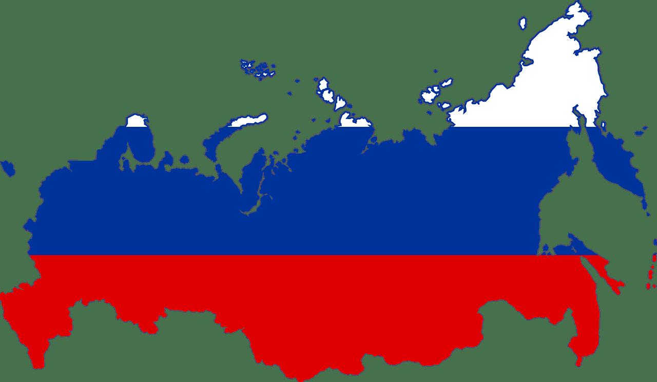 Russische Flagge- Grenzen