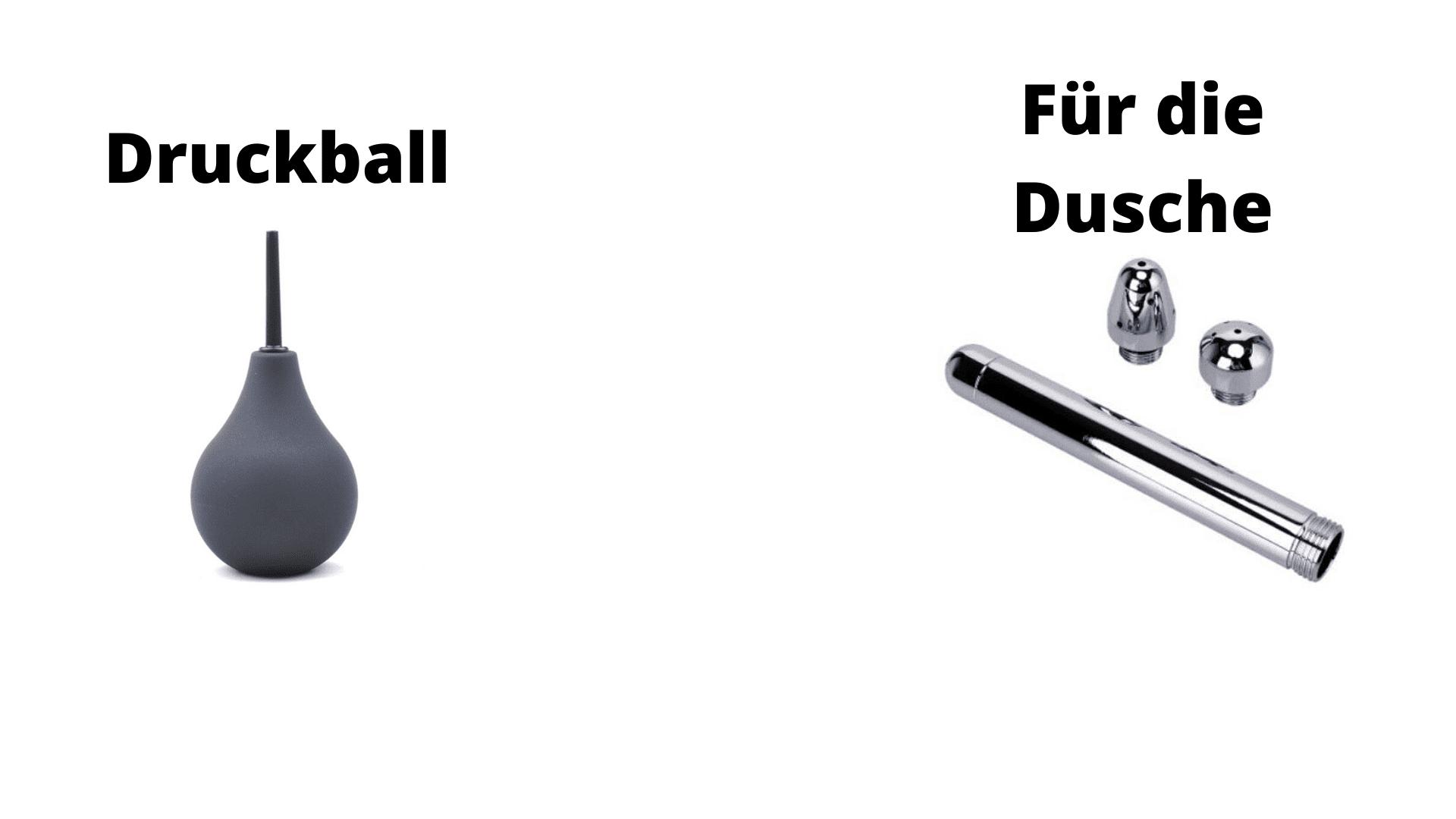 Analdusche Vergleich