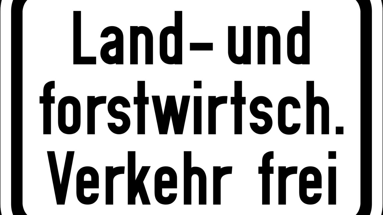 Zusatzschild_812_-_Land-_und_forstwirtschaftlicher_Verkehr_frei__StVO_1970