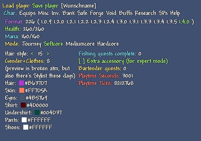Terraria Spieler namen ändern